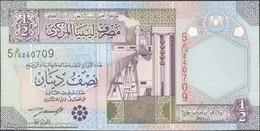 TWN - LIBYA 63 - ½ Dinar 2002 Series 5 - Prefix 14ﺩ UNC - Libya