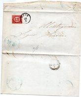 1876 LETTERA CON ANNULLO ESTE PADOVA - Marcophilia