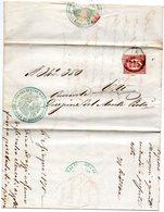1875  LETTERA CON ANNULLO ESTE PADOVA - Marcophilia