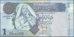 TWN - LIBYA 68b - 1 Dinar 2004 Series 6 - Prefix 84ﺝ UNC - Libya