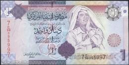 TWN - LIBYA 71 - 1 Dinar 2009 Series 7 - Prefix 36ﺝ AU - Libya