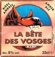 Ancienne étiquette F12 BIERE FRANCE BRASSERIE DES VOGES - LA BETE DES VOSGES - Bière