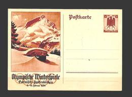 Allemagne Reich Carte Postale JO 36 - Winter 1936: Garmisch-Partenkirchen