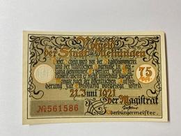 Allemagne Notgeld Meiningen 75 Pfennig - [ 3] 1918-1933 : République De Weimar