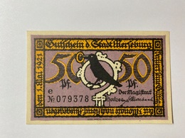 Allemagne Notgeld Merseburg 50 Pfennig - [ 3] 1918-1933 : République De Weimar
