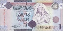 TWN - LIBYA 71 - 1 Dinar 2009 Series 7 - Prefix 65ﺝ UNC - Libya