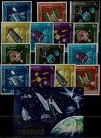 SHARJAH 1964 SPACE MI No 54-60A+B+BLOCK 4 MNH VF!! - Südamerika