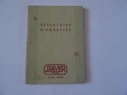 REPERTOIRE D'ADRESSES JANVIER PARIS CALENDRIER 1955 TBE - Calendriers
