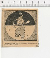 2 Scans Humour Jeu De Bilboquet Joueur Ayant Perdu La Boule Parapluie Dame Pluie 51B8 - Vieux Papiers
