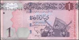 TWN - LIBYA 76 - 1 Dinar 2013 Series 1 - Prefix 1ﺍ UNC - Libya