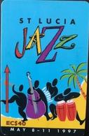 SAINTE LUCIE  -  Phonecard  - Cable & Wireless   - St Lucia Jazz May 1997  -  EC $ 40 - Santa Lucía