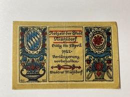 Allemagne Notgeld Muhldorf 30 Pfennig - [ 3] 1918-1933 : République De Weimar