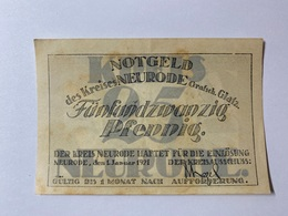 Allemagne Notgeld Neurode 25 Pfennig - [ 3] 1918-1933 : République De Weimar