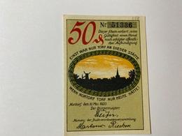 Allemagne Notgeld Nortorf 50 Pfennig - [ 3] 1918-1933 : République De Weimar