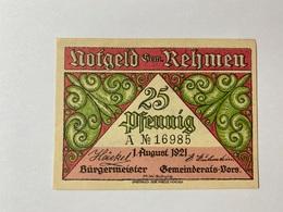 Allemagne Notgeld Rehmen 25 Pfennig - [ 3] 1918-1933 : République De Weimar