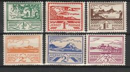 JERSEY OCCUPATION ALLEMANDE 1943 YT N° 3 à 8 * - Jersey