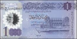 TWN - LIBYA NEW - 1 Dinar 2019 Polymer - Series 2 - Prefix 11ﺍ UNC - Libya