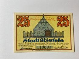 Allemagne Notgeld Rinteln 25 Pfennig - [ 3] 1918-1933 : République De Weimar