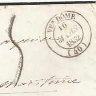 - LOIR Et CHER - VENDOME - PORT PAYE - Càd Type 12 - Taxée - 1852 - Andere