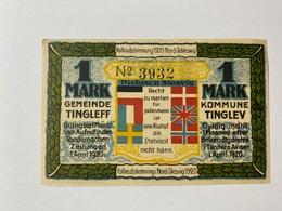 Allemagne Notgeld Tingleff 1 Mark - [ 3] 1918-1933 : République De Weimar