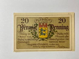 Allemagne Notgeld Tondern 20 Pfennig - [ 3] 1918-1933 : République De Weimar