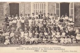 CP CENTRE D'HEBERGEMENT DES RÉFUGIÉS ESPAGNOLS - TONNERRE Ancienne Sous Préfecture - Internés Civils 14 Juillet  1937 - Tonnerre