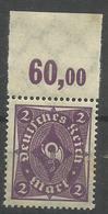 """Deutsches Reich 191 POR """" Briefmarke Mit Plattendruckoberrand (WZ Waffeln) """" Postfr. Mi.:2,00 - Ungebraucht"""