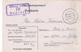 CENSOR OFLAG VII A  Postkarte Kriegsgefangenenpost Offizierlager Polish Officer General Gouvernement - Cartas