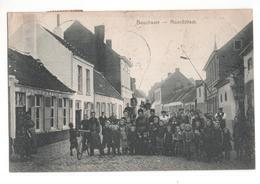 Belgie - Bouchaute Boekhoute - Noordstraat - In De Halve Maan Bij De W Busse Estamine  - 1908 - Belgique
