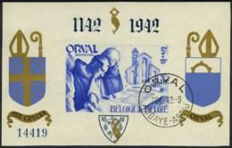 [A2212] België BL21 - Orval Met Gotische Cijfers - Blauw - Genummerd - Gestempeld - O - Used - Blocs 1924-1960