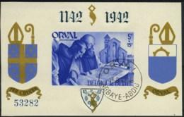 [A2214] België BL21 - Orval Met Gotische Cijfers - Blauw - Genummerd - Gestempeld - O - Used - Blocs 1924-1960