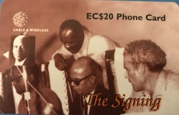 SAINTE LUCIE  -  Phonecard  - Cable & Wireless   -  The Signing  -  EC $ 50 - St. Lucia
