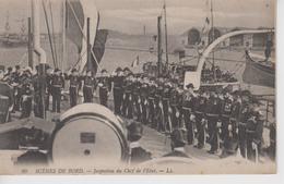 CPA Scènes De Bord - Inspection Du Chef De L'Etat (jolie Scène) - Guerre