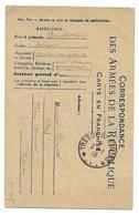 WWI BAUDOUIN SERGENT ANCIEN COMPTABLE DUCLOS VICHY POUR BARETTE HOTEL PLACE CARNOT ROUEN - CPA CORRESPONDANCE MILITAIRE - Guerre 1914-18