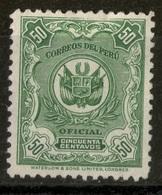 PERÚ-Yv. 33-Servicio -Nuevo Sin Goma -N-12821 - Peru
