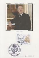 Carte  Maximum   FRANCE   Hommage  à   Alain  POHER   ABLON  SUR  SEINE   2006 - 2000-09