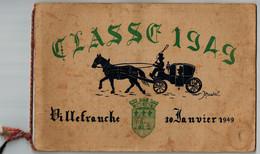 LIVRET CLASSE 1949 VILLEFRANCHE SUR SAONE (69) 30 Janvier 1949 - Photos Des Conscrits (hommes Et Femmes Nés En 1929) - Personnes