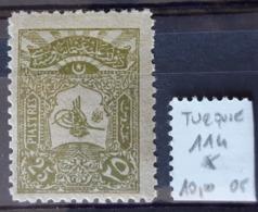 TURQUIE / YT 114 / NEUF * / MH / COTE : 10.00 € - Ongebruikt