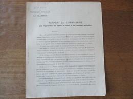 SOCIETE ANONYME DES MINES DE HOUILLE DE LA CLARENCE RAPPORT DU COMMISSAIRE LE 2 DECEMBRE 1895 HIPPOLYTE WAMBERGUE AIRE S - 1800 – 1899