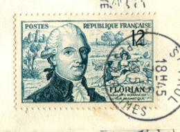 France 1955 - YT 1021 (o) Sur Fragment - France