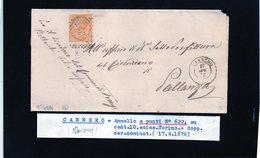 CG29 - Lettera Da Cannero Per Pallanza 17/4/1876 - Marcophilia