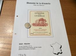Étiquette De Vin 2000 «CÔTES DU LUBERON - DOMAINE DE LA CITADELLE - MÉNERBES (84)» - Côtes Du Rhône