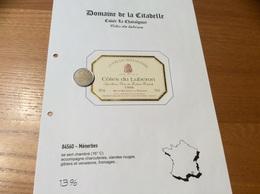 Étiquette De Vin 1998 «CÔTES DU LUBERON - DOMAINE DE LA CITADELLE - CUVÉE LE CHÂTAIGNIER - MÉNERBES (84)» - Côtes Du Rhône
