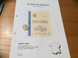 Étiquette De Vin 2001 «CÔTES DU LUBERON - CAVE DE LUMIÈRES - GOULT (84)» - Côtes Du Rhône