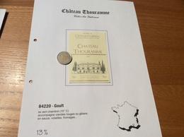 Étiquette De Vin 2001 «CÔTES DU LUBERON - CHATEAU THOURAMME - CAVE DE LUMIÈRES - GOULT (84)» - Côtes Du Rhône