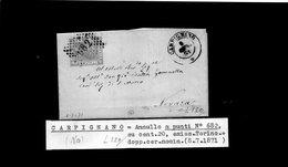 CG29 - Lettera Da Carpignano Per Novara 8/7/1871 - Marcophilia
