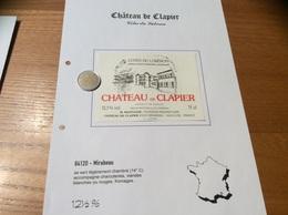 Étiquette De Vin «CÔTES DU LUBERON - CHATEAU DE CLAPIER - M. MONTAGNE - Mirabeau (84)» - Côtes Du Rhône