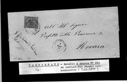 CG29 - Lettera Da Carpignano Per Novara 7/11/1877 - Marcophilia