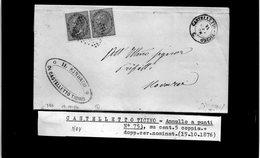 CG29 - Lettera Da Castelletto Ticino Per Novara 15/10/1876 - Marcophilia
