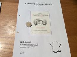Étiquette De Vin 1995 «CÔTES DU LUBERON - CHÂTEAU CONSTANTIN-CHEVALIER - CUVÉE DES FONDATEURS - Lourmarin (84)» - Côtes Du Rhône